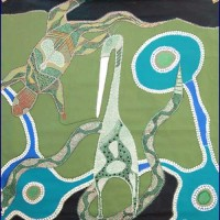 Aboriginal Art Canvas ….       Albert Doughty - Size:121x123cm - H